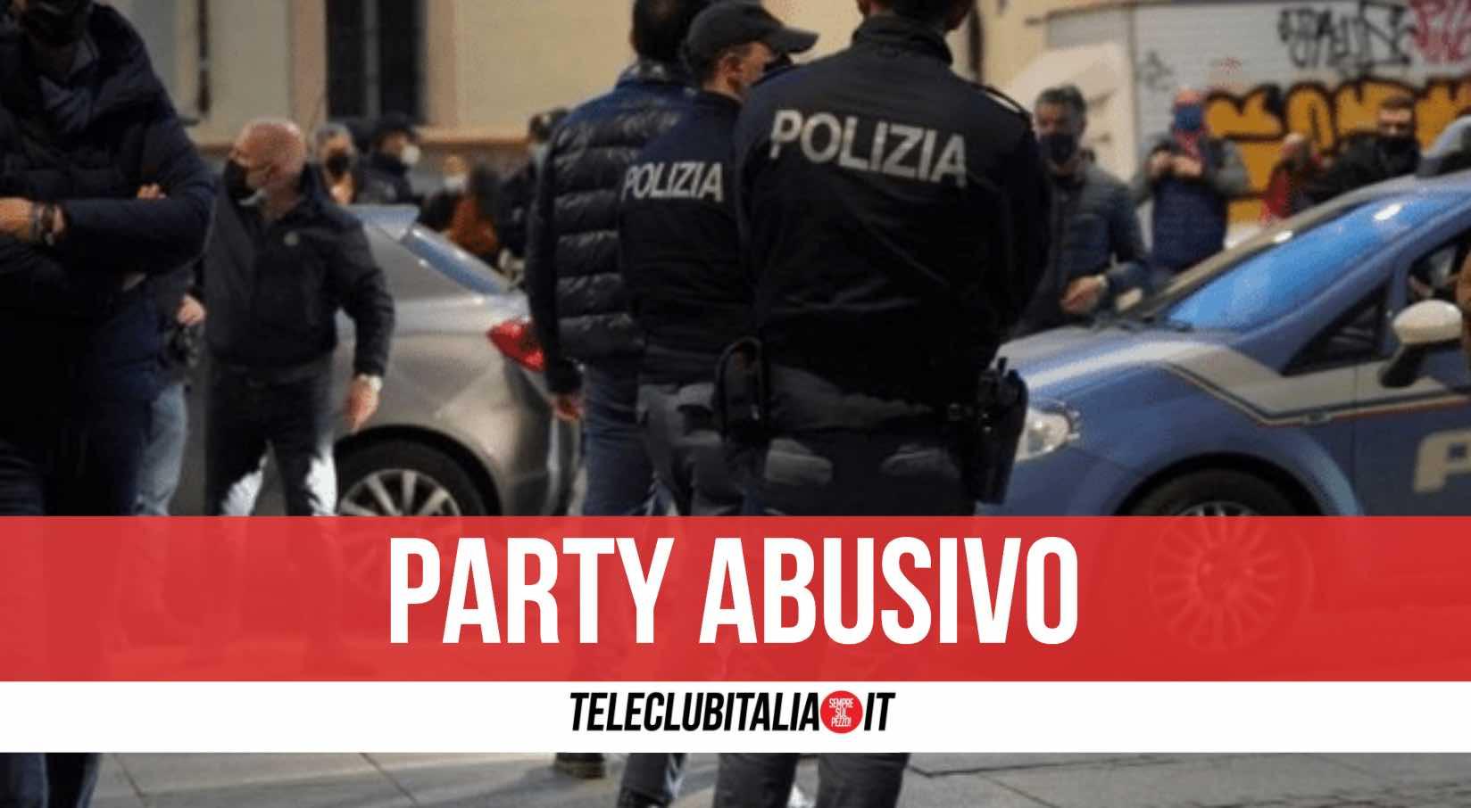 festa abusiva napoli polizia