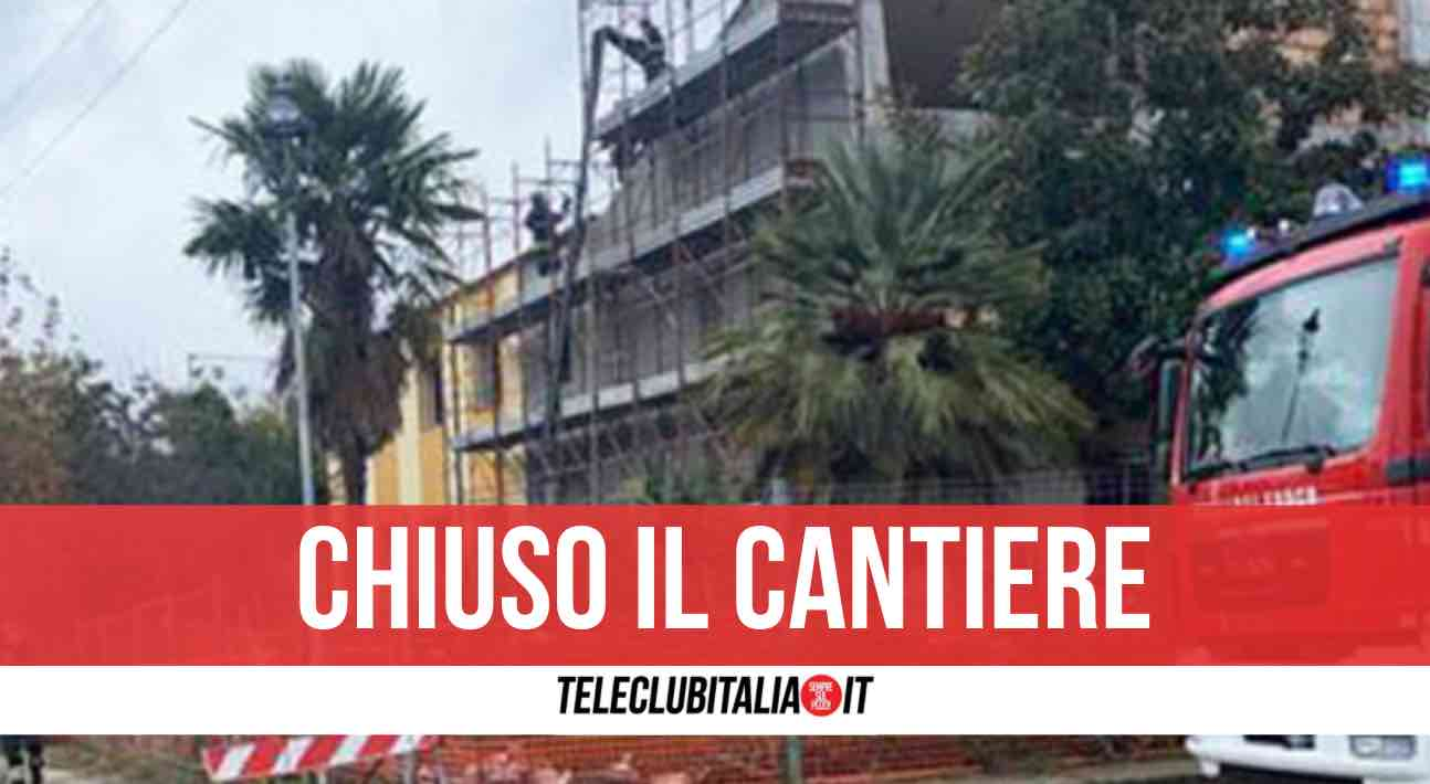 cantiere chiuso carabinieri