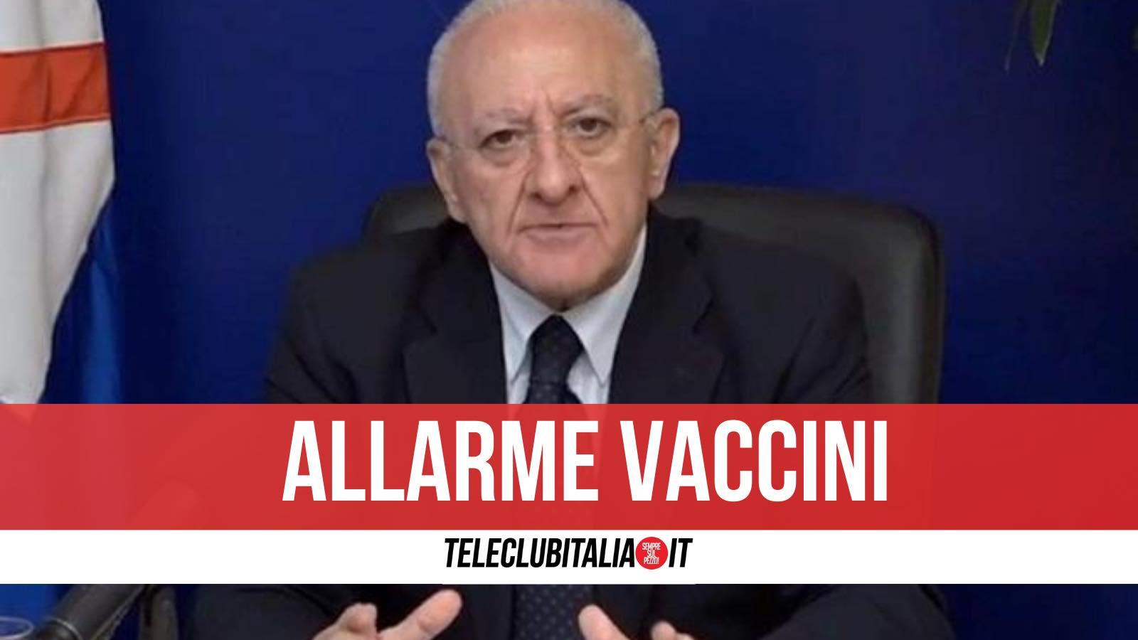 astrazeneca vaccini campania sospeso lotto de luca