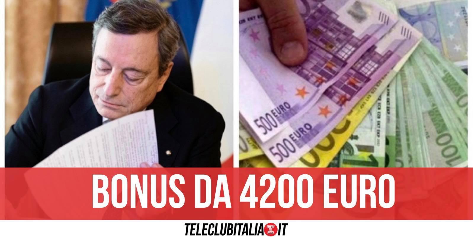 bonus 4200 euro draghi decreto sostegni
