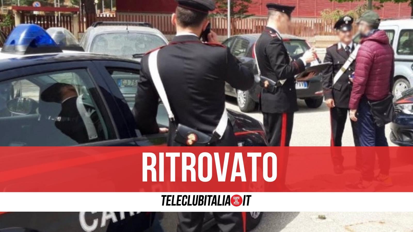 carabiniere scomparso mugnano ritrovato