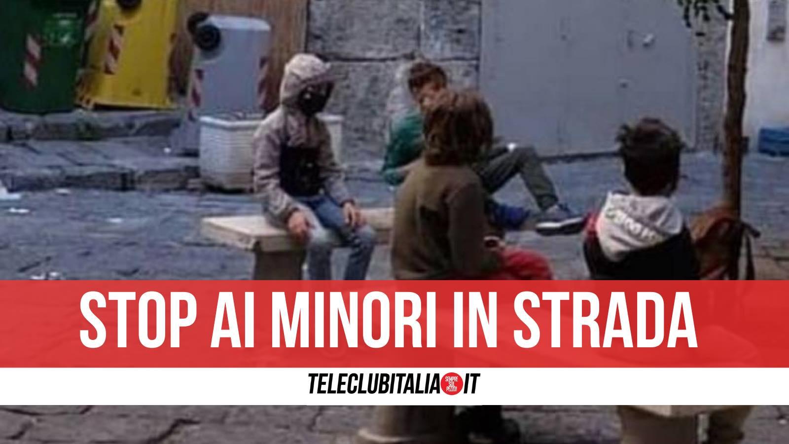 minori in strada stop ordinanza nicola pirozzi giugliano