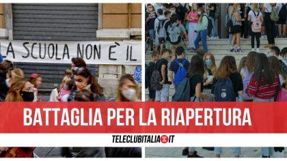 """Campania, i genitori No Dad annunciano due giorni di protesta: """"Lezioni in strada"""""""