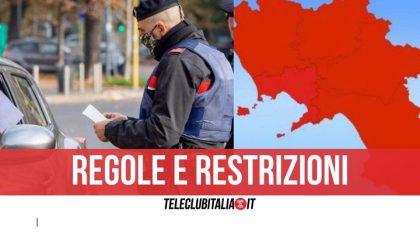 Zona rossa in Campania, cosa si può fare e cosa no da domani