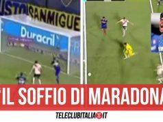 soffio maradona river plate boca juniors video