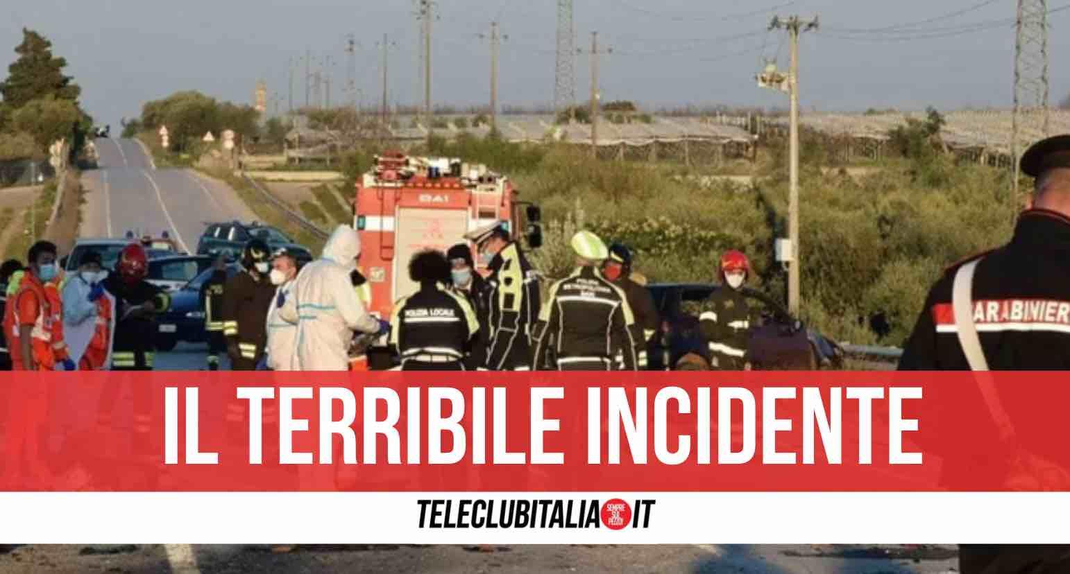incidente bari 2 morti