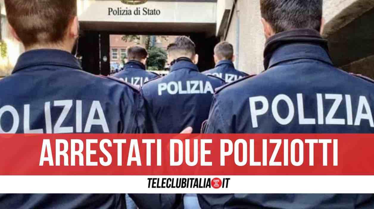 napoli arrestati poliziotti