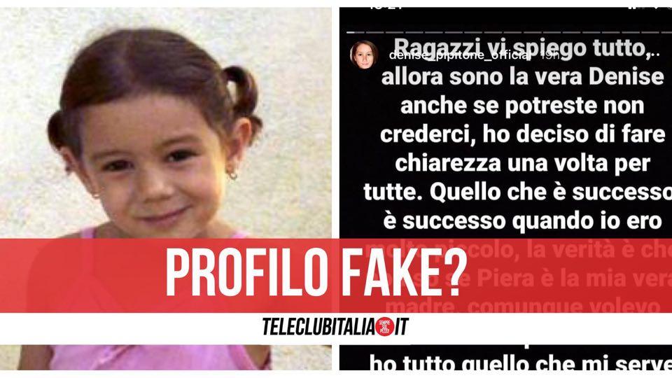 profilo fake denise pipitone instagram