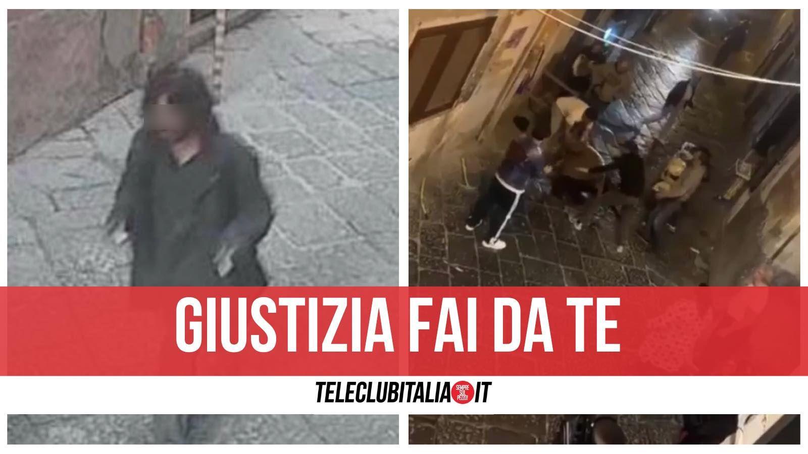 quartieri spagnoli napoli pestaggio ladro