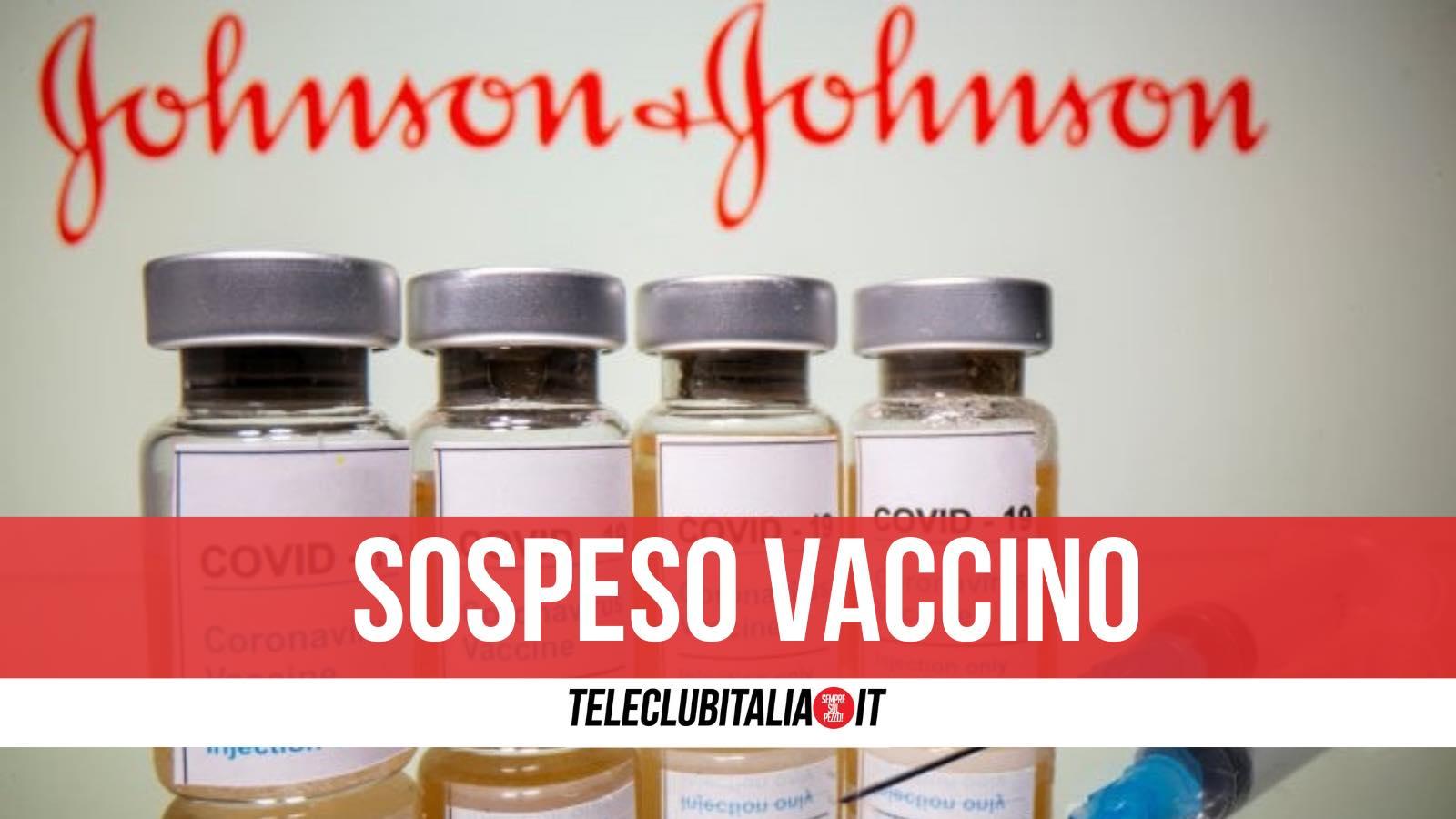 sospeso stati uniti vaccino johnson e johnson