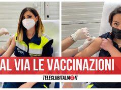 vaccinazioni protezione civile parete