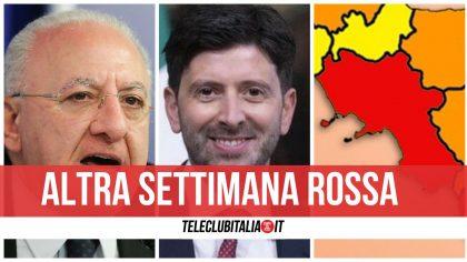 Campania |  poche speranze |  resteremo in rossa  Ancora chiusi barbieri |  abbigliamento e ristoranti