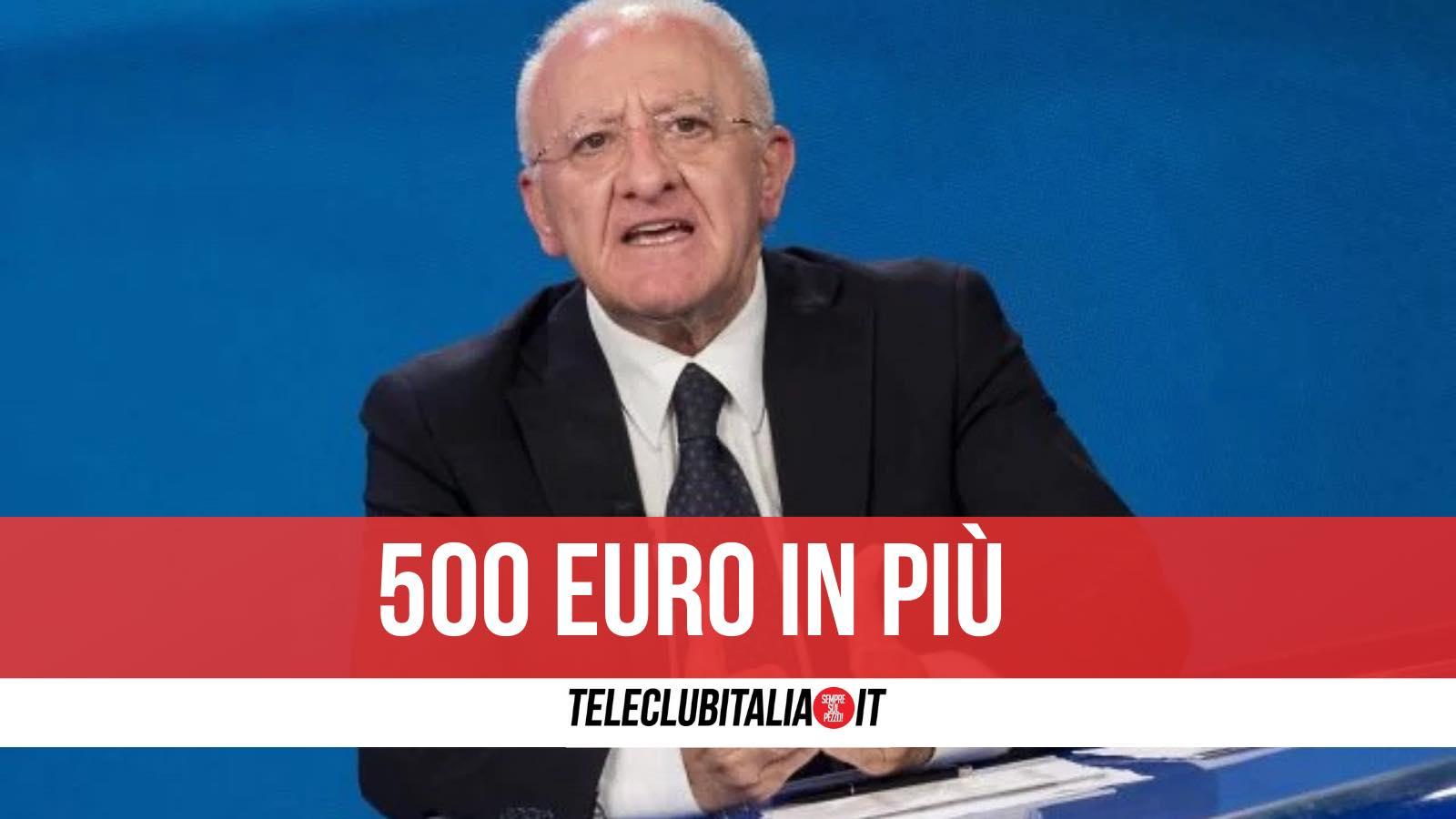 500 euro reddito di cittadinanza de luca