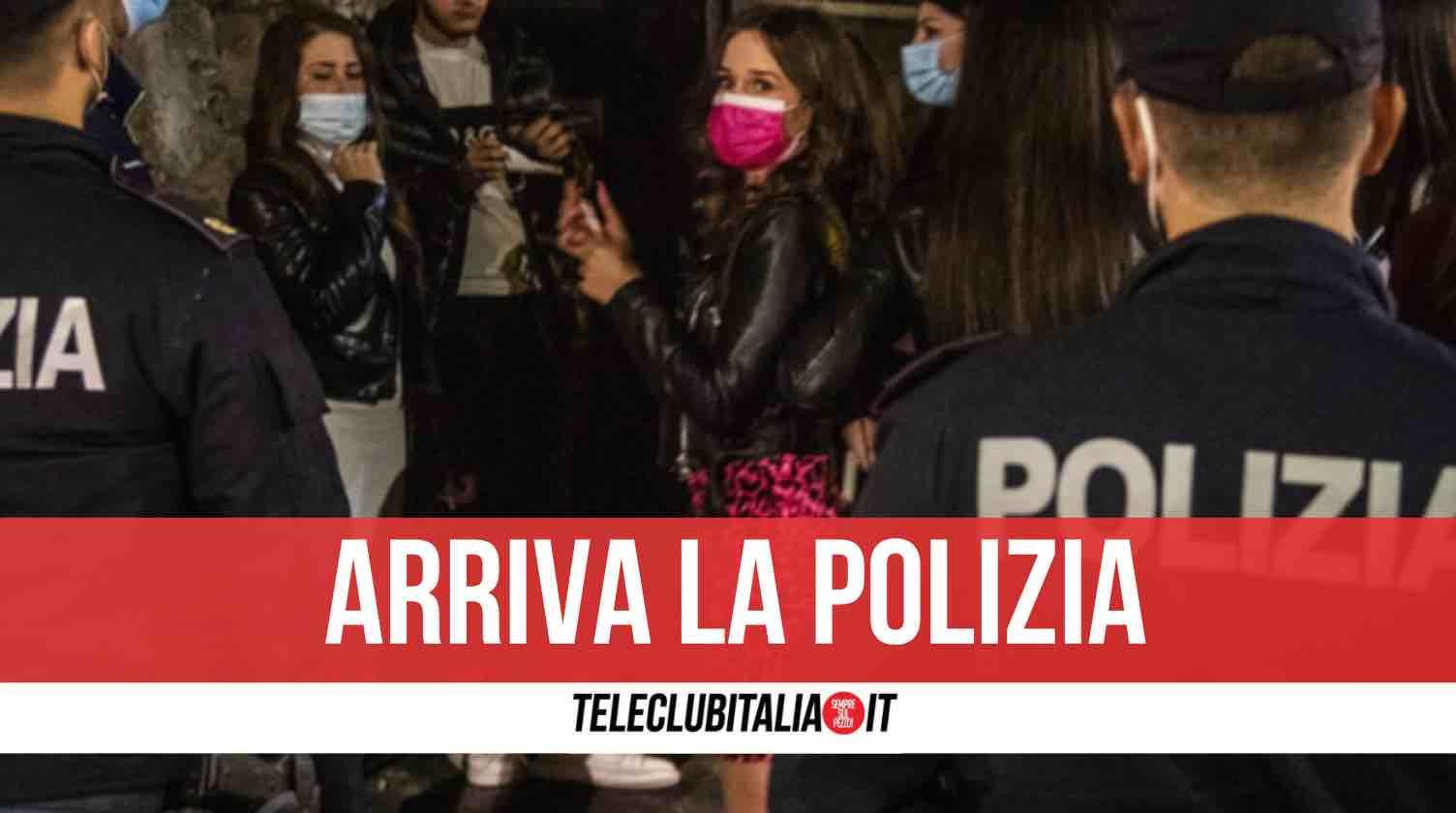 napoli festa privata polizia