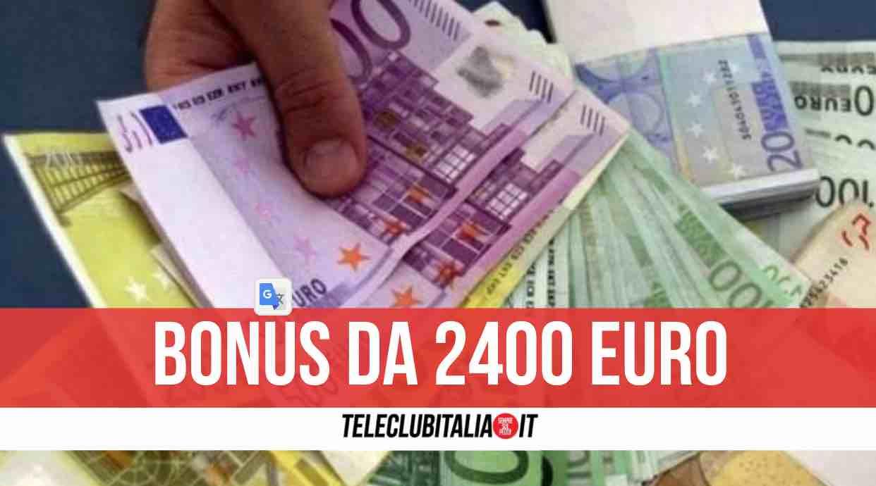 bonus 2400 euro inps