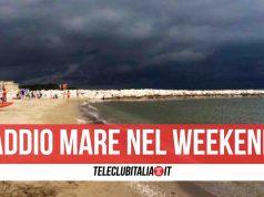 meteo campania temporali weekend