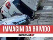 voragine in strada roma