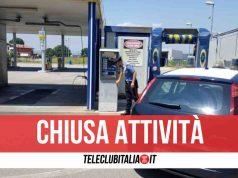 qualiano carabinieri chiuso distributore carburanti