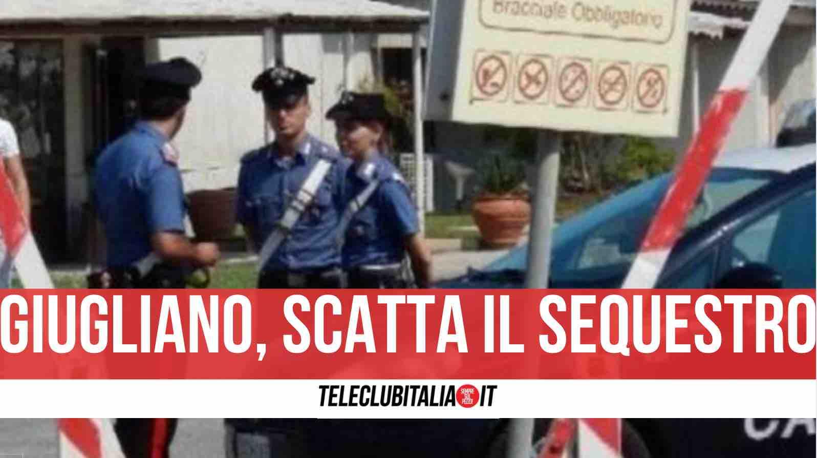 giugliano carabinieri chiuso lido