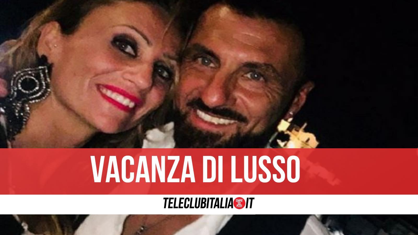 Sossio Aruta e Ursula Bennardo vacanza crociera
