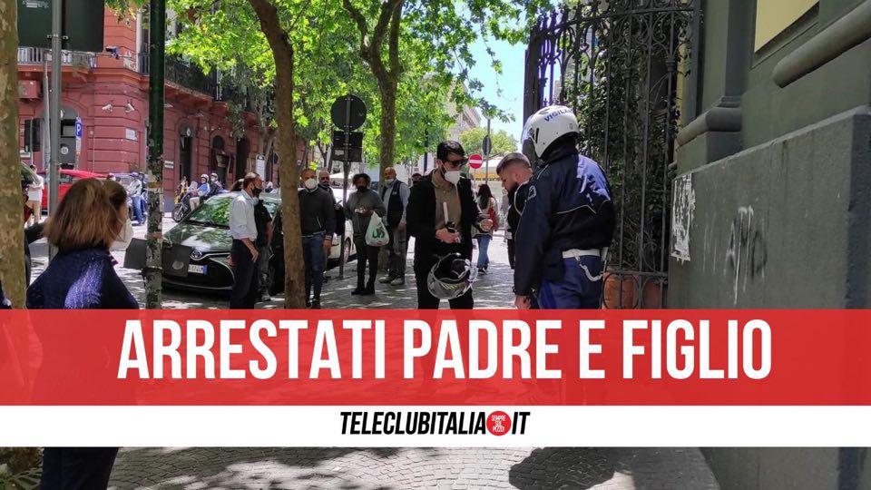 arrestati vomero tentano rubare scooter
