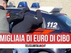 arresto giugliano ladro supermercato
