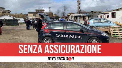 Blitz al campo rom di Qualiano: sequestrati 7 veicoli intestati a prestanome
