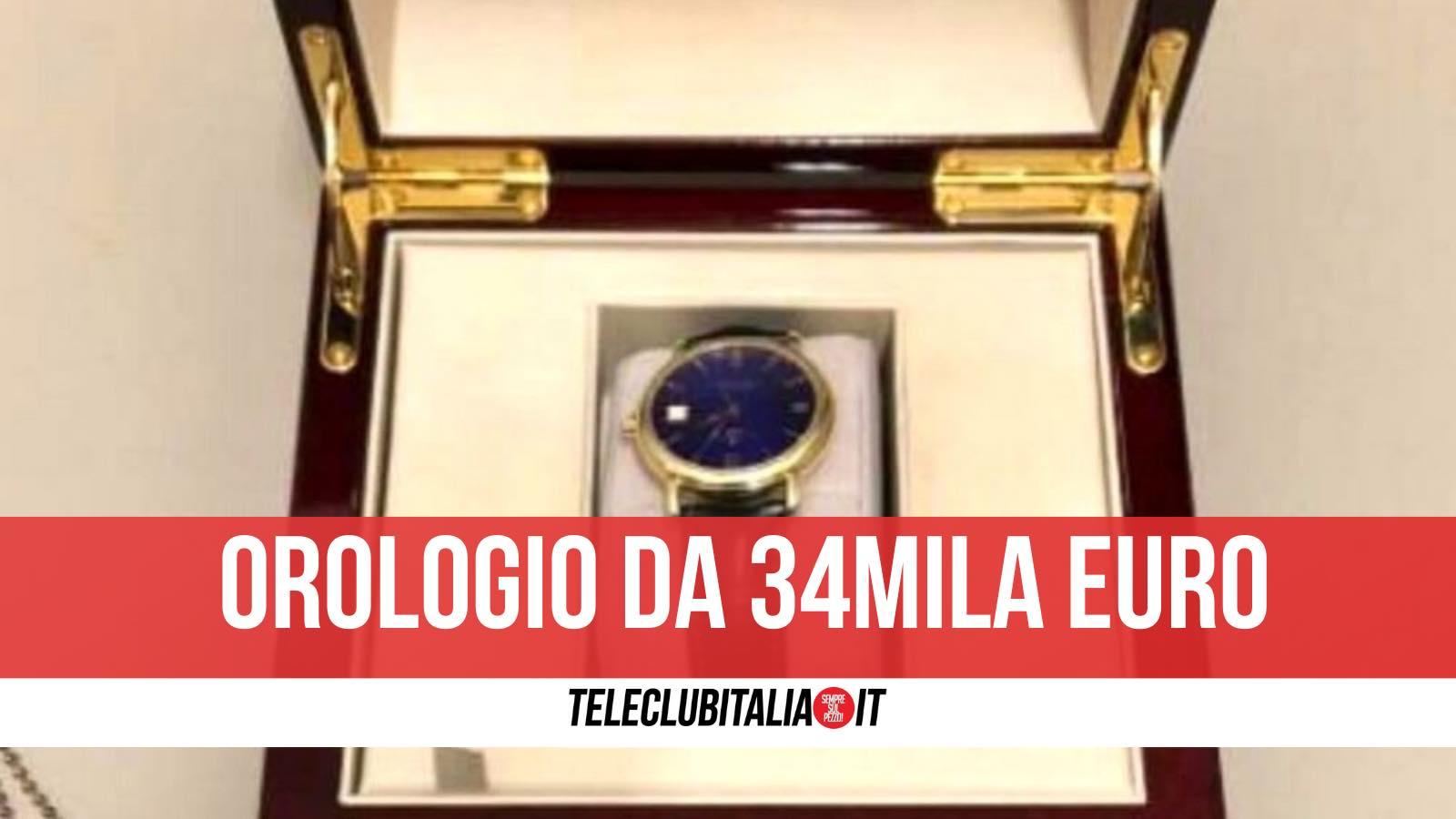 como orologio 34mila euro dogane