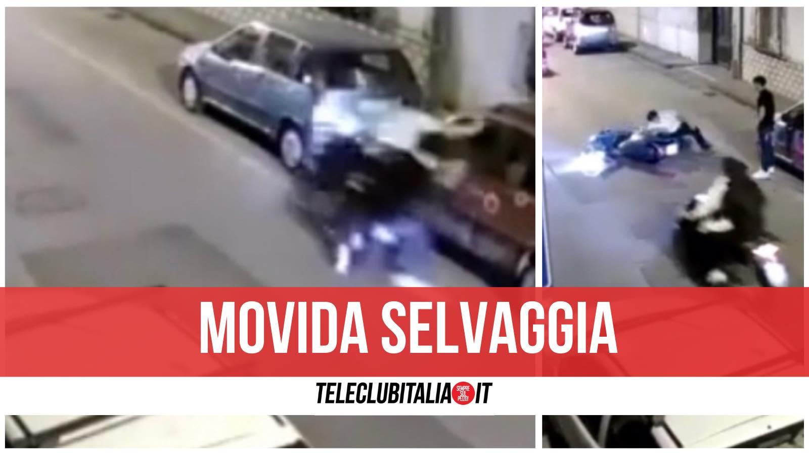 frattamaggiore movida incidente scooter