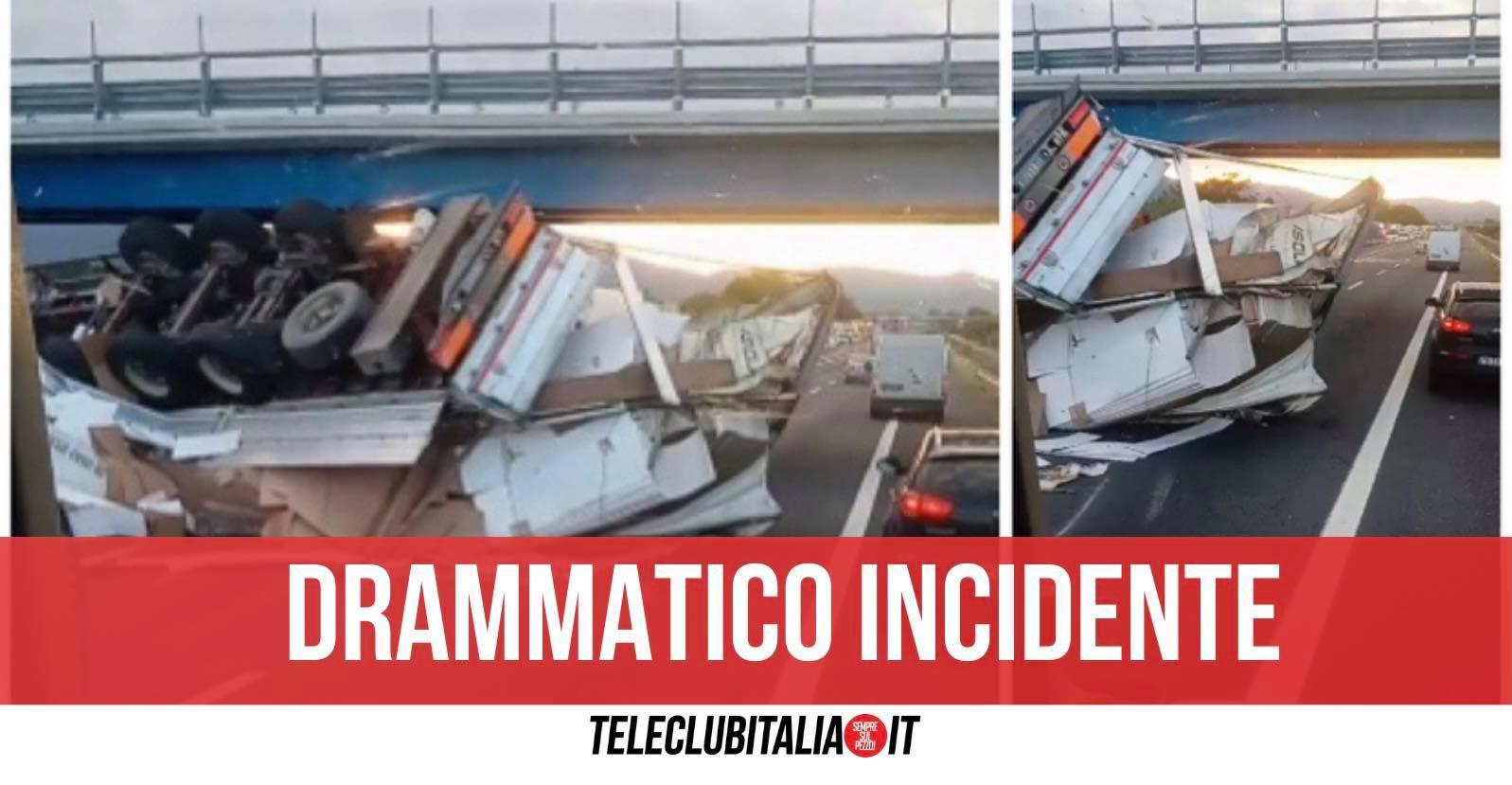 incidente a11 tir ribaltato