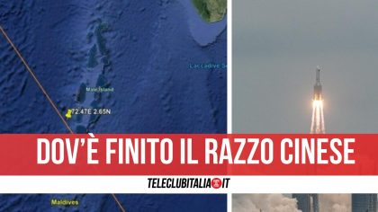 Campania, scampato il razzo cinese: Lunga Marcia 5B finisce vicino alle Maldive