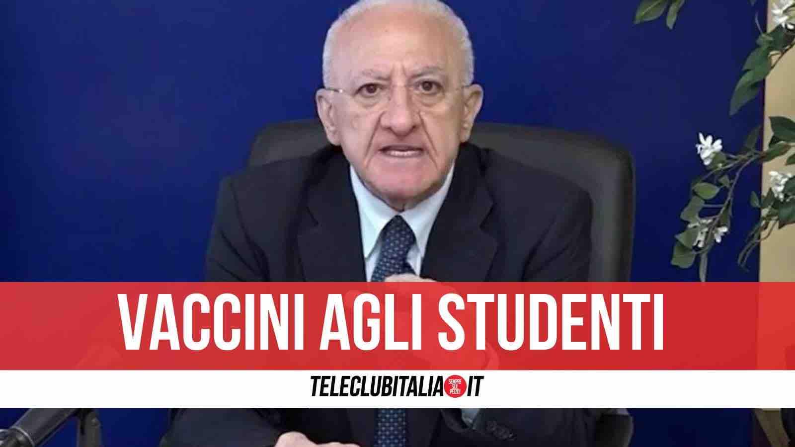 vaccini studenti maturità campania