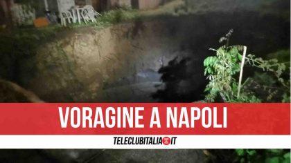 Paura a Napoli, dopo la pioggia si apre una voragine