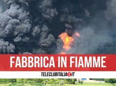 esplode fabbrica vernici