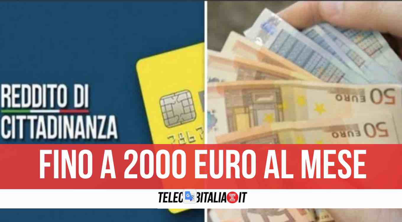 reddito di cittadinanza assegno unico 2000 euro