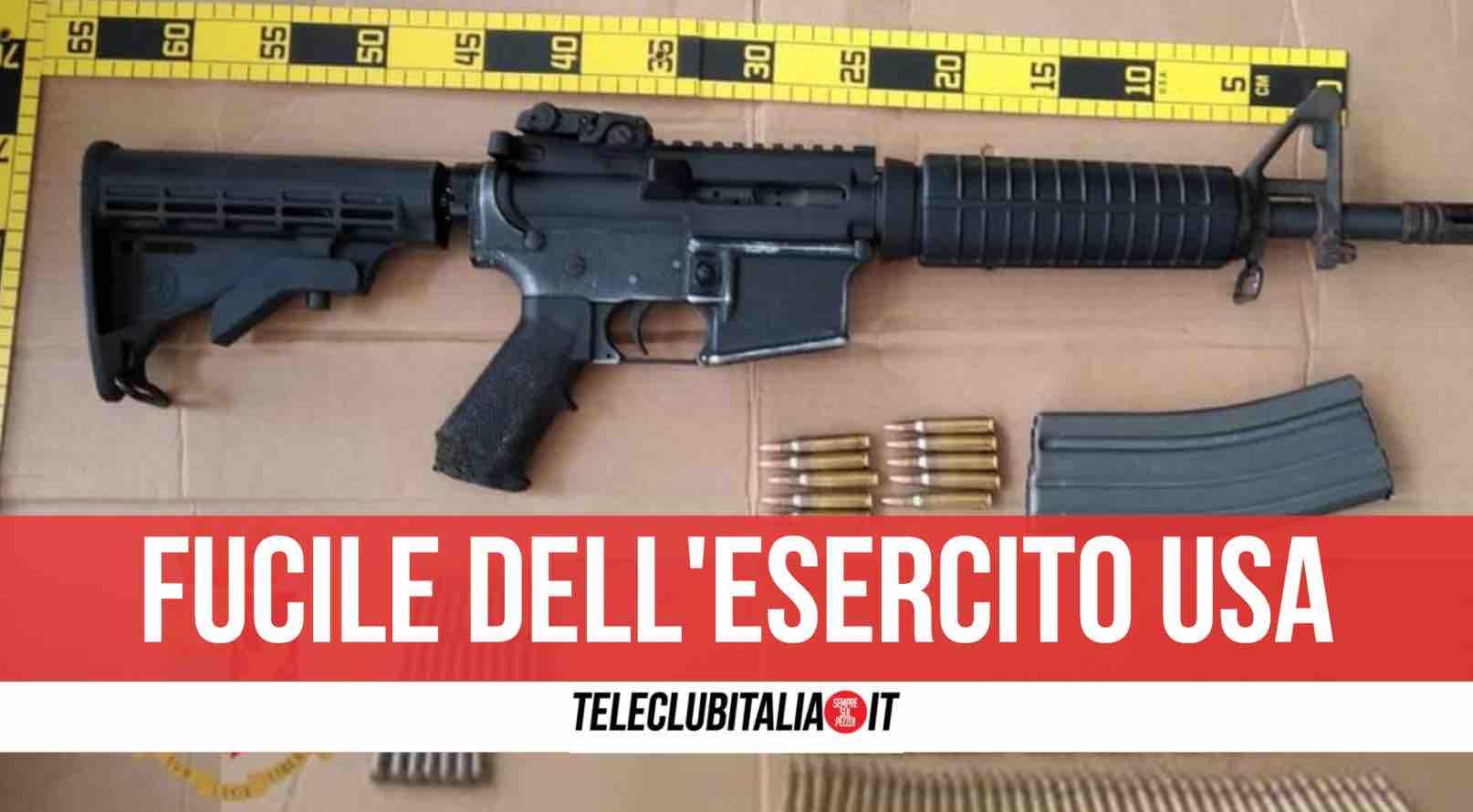napoli polizia fucile mitragliatore