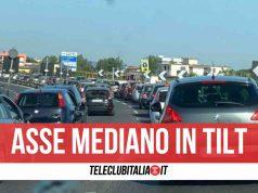 traffico mare asse mediano incidente