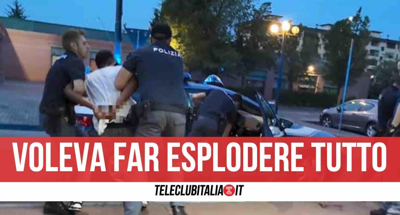polizia arrestato marito violento