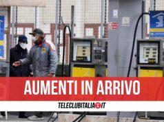 aumento benzina diesel prezzi