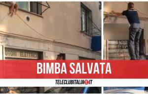 bimba salvata roma finestra video