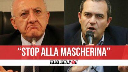 "De Magistris contro De Luca: ""Via le mascherine all'aperto da oggi"""