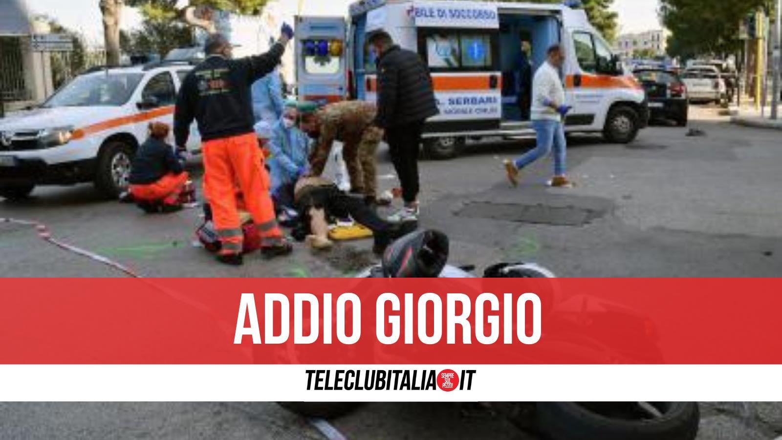 giorgio morto incidente minturno scauri