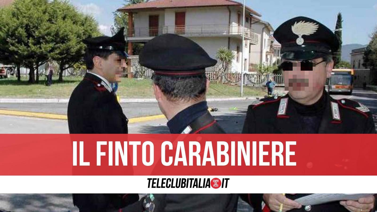 giugliano finto carabiniere arrestato