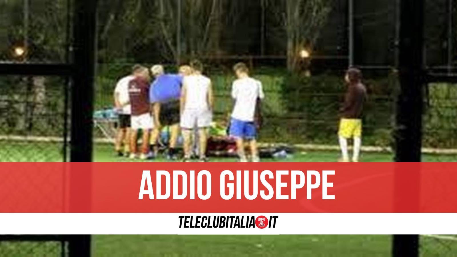 giuseppe morto poggiomarino campo di calcio