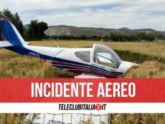 incidente aereo vitulazio feriti