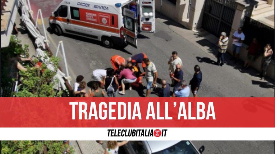 incidente morta via spallanzani giugliano caduta balcone