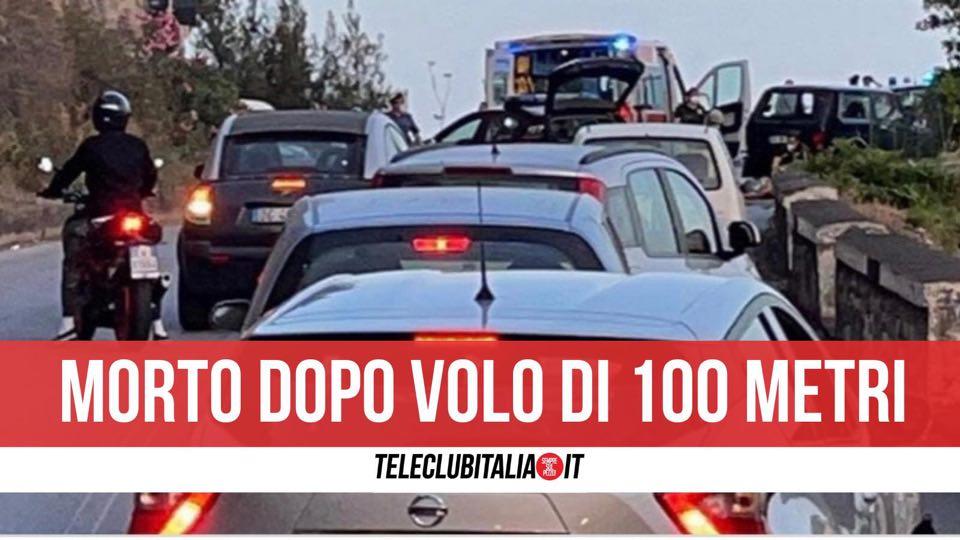 morto taormina scooter volo 100 metri via roma