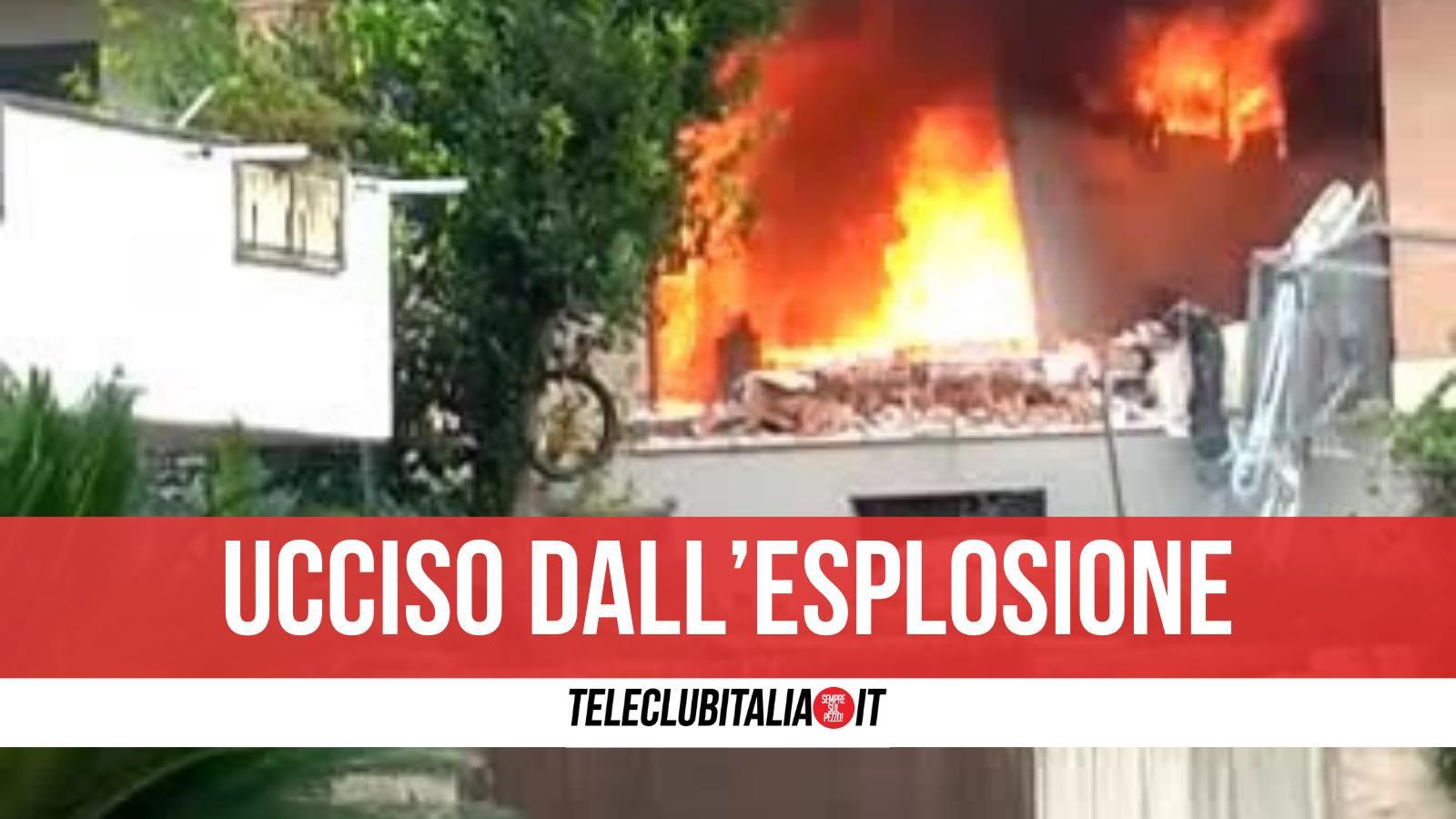 petina morto esplosione bombola d gas