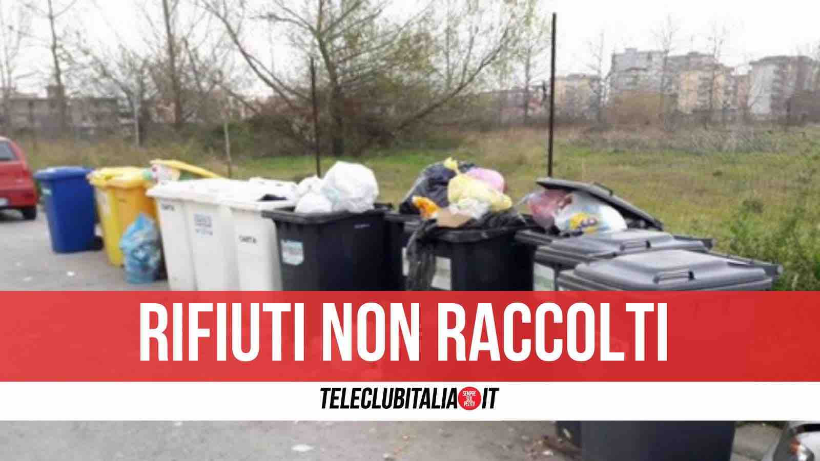 sciopero rifiuti giugliano