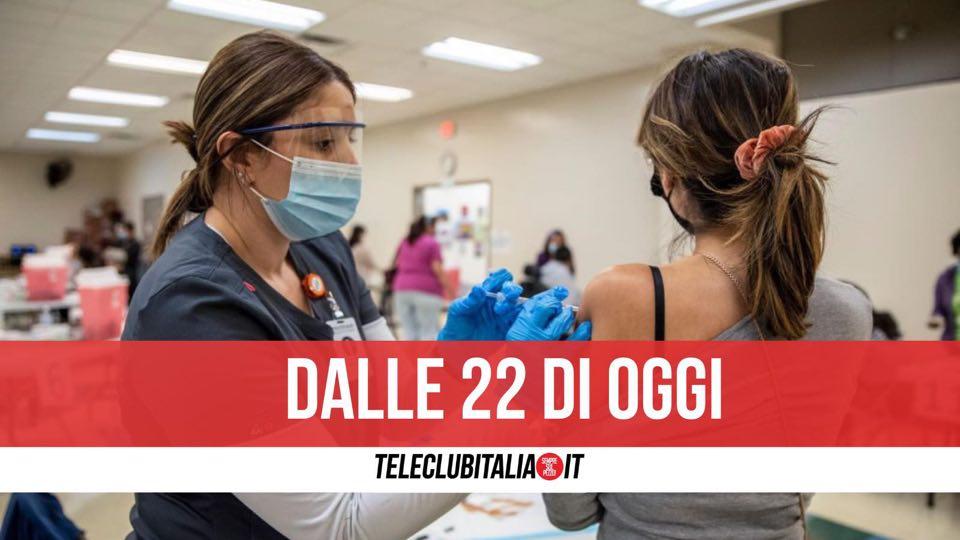 vaccini 2 giugno ore 22 giovani campania